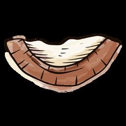 Acuarela de cáscara de coco