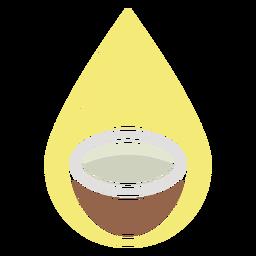 Icono de agua de coco