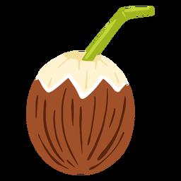 Coco con diseño de paja