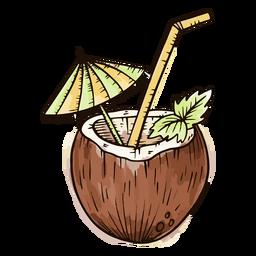 Coco con acuarela de paraguas