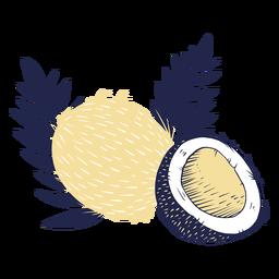 Cocos con hojas