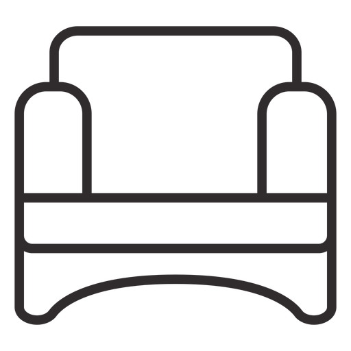 Confy chair stroke Transparent PNG