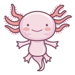 Personagem bonito axolotl