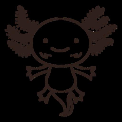 Cute axolotl stroke