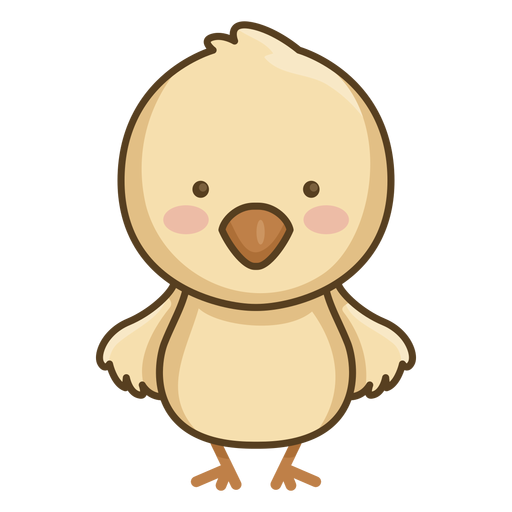 Lindo personaje de pollito