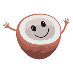 Cute coconut character