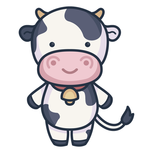 Cute cow character Transparent PNG