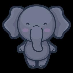 Personagem de elefante fofo