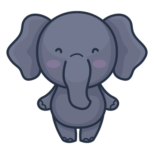 Cute elephant character Transparent PNG