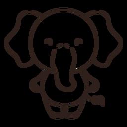 Curso de elefante fofo