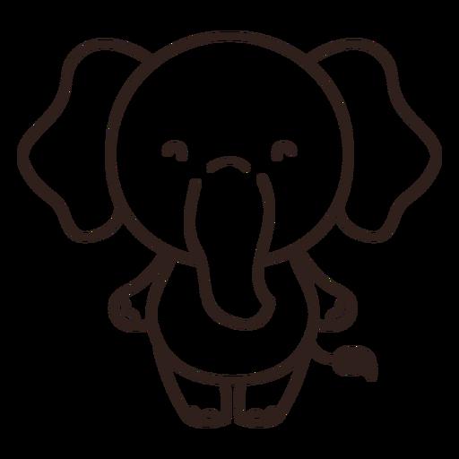 Cute elephant stroke