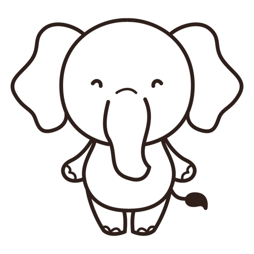 Golpe de elefante lindo