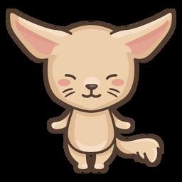 Cute fennec character