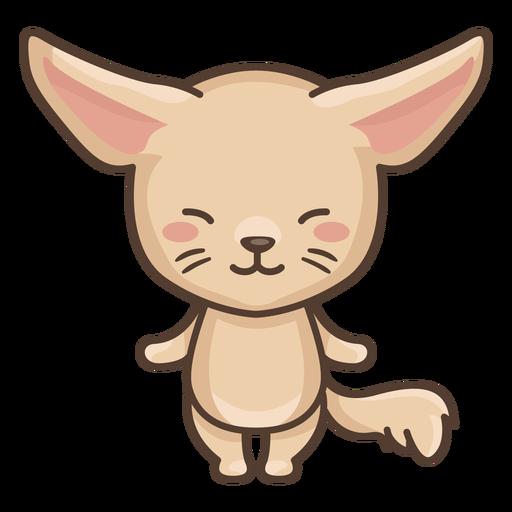 Cute fennec character Transparent PNG