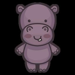 Lindo personaje de hipopótamo