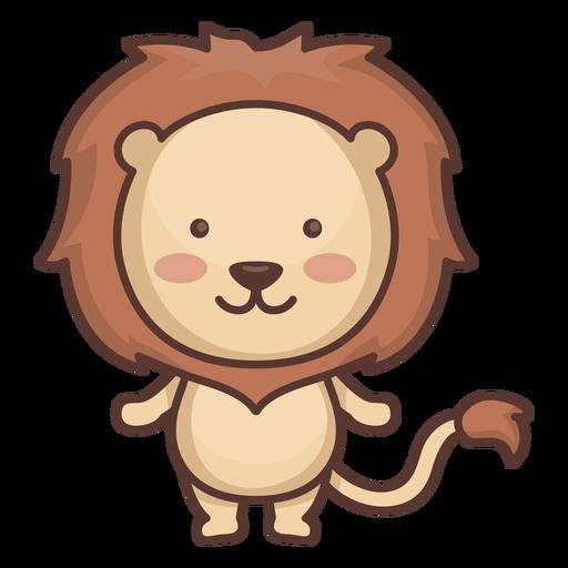 Cute lion character Transparent PNG