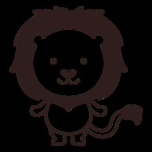 Cute lion stroke
