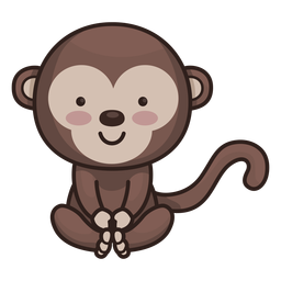 Cute monkey character