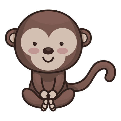 Cute monkey character Transparent PNG