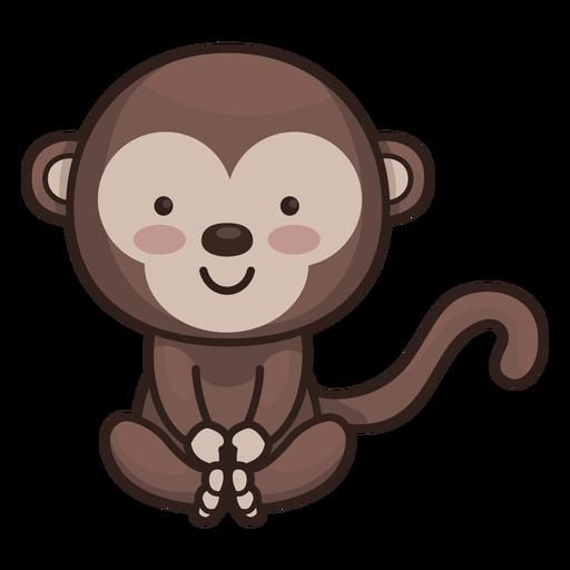 Personagem de macaco bonito