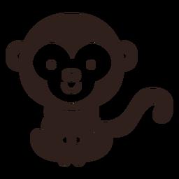 Cute monkey stroke