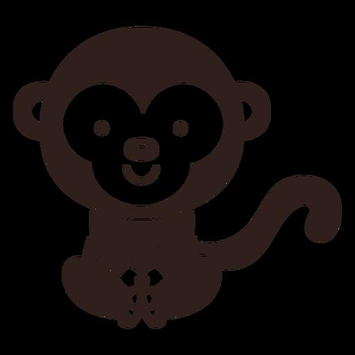 Golpe de mono lindo