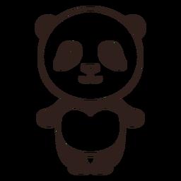 Golpe de panda lindo