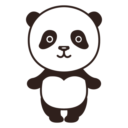 Cute panda stroke