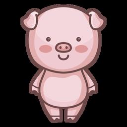 Personagem de porco bonito