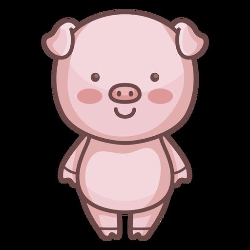 Lindo personaje de cerdo