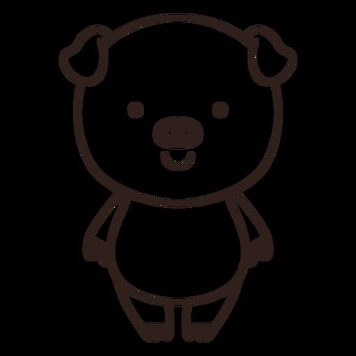 Golpe de cerdo lindo