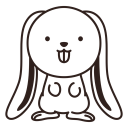 Cute rabbit stroke
