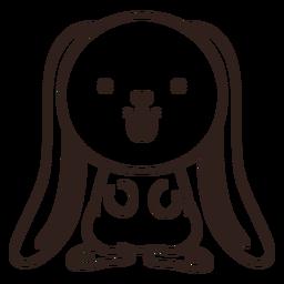 Golpe de conejo lindo