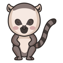 Cute raccoon character