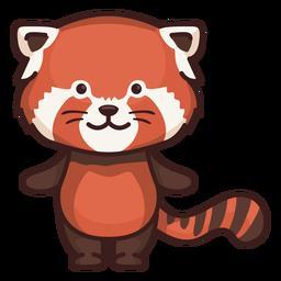 Personagem de panda vermelho bonito