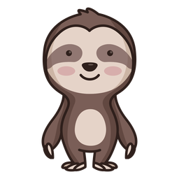 Cute sloth character