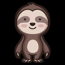 Personagem de preguiça bonito