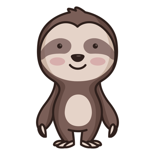 Cute sloth character Transparent PNG