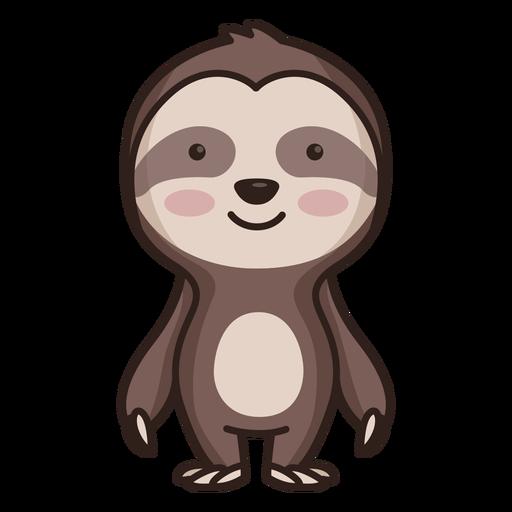 Personagem de preguiça fofa