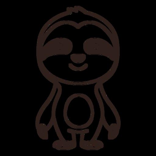 Traço de preguiça fofo
