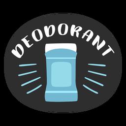 Etiqueta de baño desodorante plana