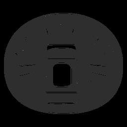 Etiqueta de baño desodorante negro