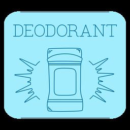 Deodorant bathroom label line