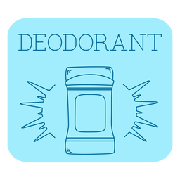 Línea de etiqueta de baño desodorante