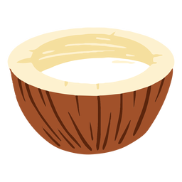 Design half coconut