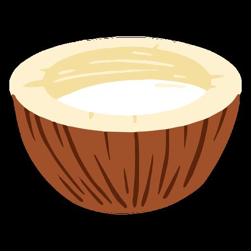 Design half coconut Transparent PNG
