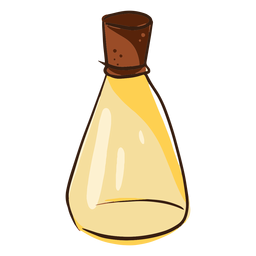 Doodle de aceite de coco embotellado