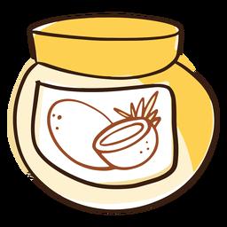 Doodle coconut oil jar