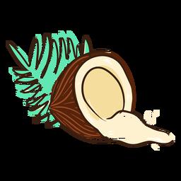 Doodle half coconut