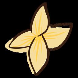 Doodle flor hawaiana